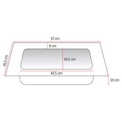 Veroni Solid Surface Waschbecken Waschtisch 60cm - BETA60 - 1