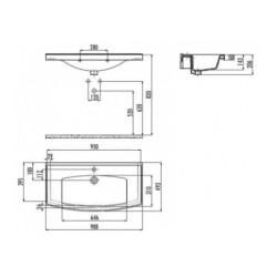 Vita 100 Keramikwaschbecken (980x485mm) - TF100 - 1