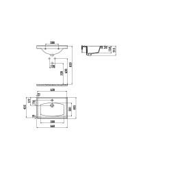 Star 65 Waschbecken aus Keramik (545x450mm) - TF165 - 1