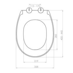 Belvit WC Design Sitz Absenkautomatik Softclose Toilettensitz Klodeckel Duroplast - BV-D0401 - 1