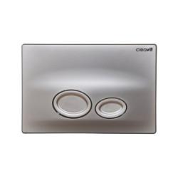 Creavit drop toilet flush plate 2-quantity rinsing gray matt - GP2002.00 - 0