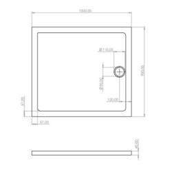 Shower cup acrylic 100x90x4 cm - SW-40401 - 3