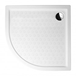 Aloni Duschtasse Acryl Viertelkreis (BxBxH) 80 x 80 x 15 cm Weiß - TO813 - 2