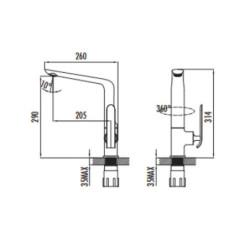 Creavit Bloom Küchenaramtur Wasserhahn chrom - BL8502 - 1
