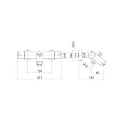 Aloni design bathtub fitting - TM22060 - 1