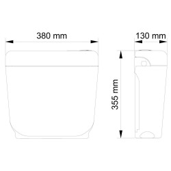 Surface-mounted cistern AP surface-mounted cistern for free-standing toilet Whte - BV-AP1001 - 5