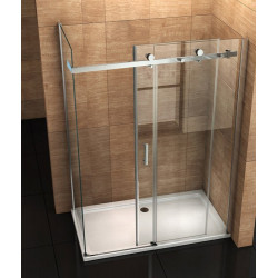 Aloni shower cabin sliding door + side wall clear glass 8 mm (TXBXH) 800 x 1200 x 1950 mm - CR045F-80120 - 1