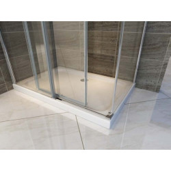 Aloni shower cabin sliding door + side wall clear glass 8 mm (TXBXH) 800 x 1200 x 1950 mm - CR045F-80120 - 4
