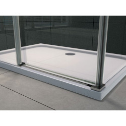 Aloni shower cabin sliding door + side wall clear glass 8 mm (TXBXH) 800 x 1200 x 1950 mm - CR045F-80120 - 5