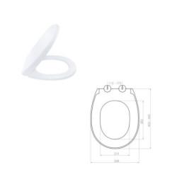 Aloni WC Design Sitz Absenkautomatik Softclose Toilettensitz Duroplast - AL0401 - 1